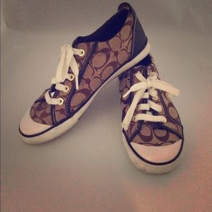 Coach brown sneakers size 7.5